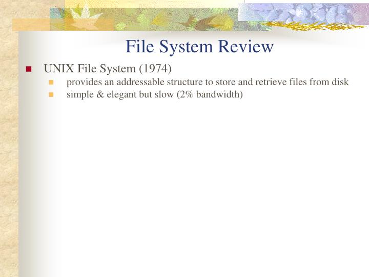 File system review1