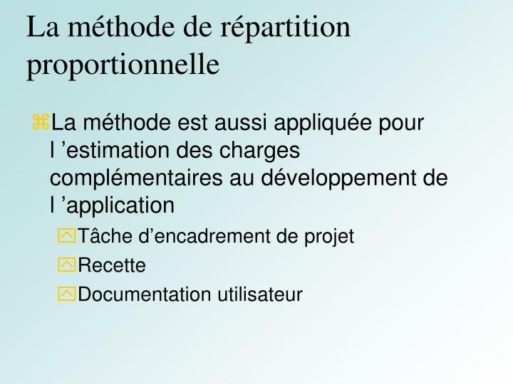 La méthode de répartition proportionnelle