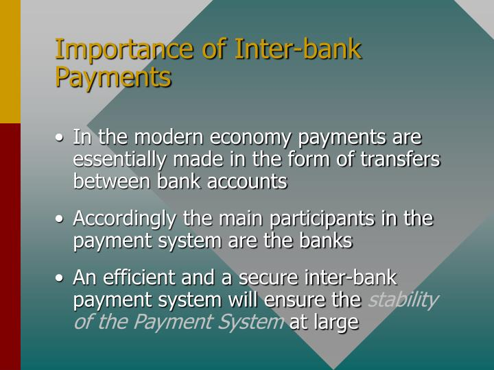 Importance of Inter-bank Payments