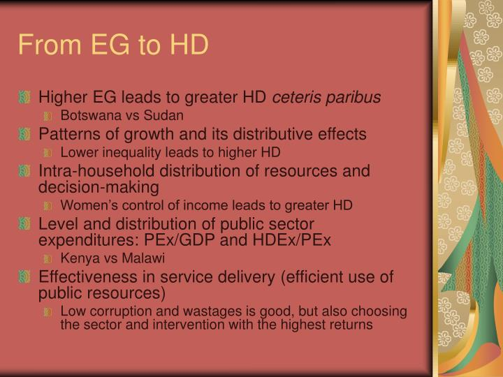 From EG to HD
