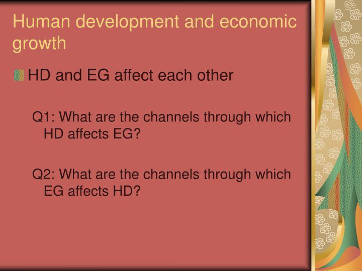 Human development and economic growth