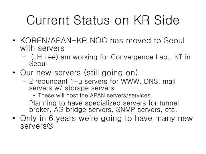 Current Status on KR Side