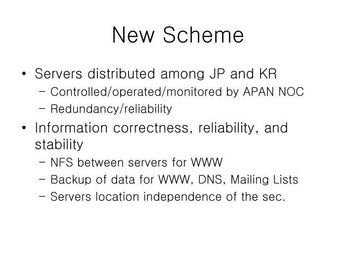 New Scheme