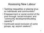 assessing new labour