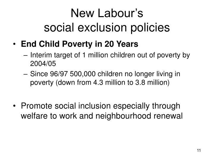 New Labour's