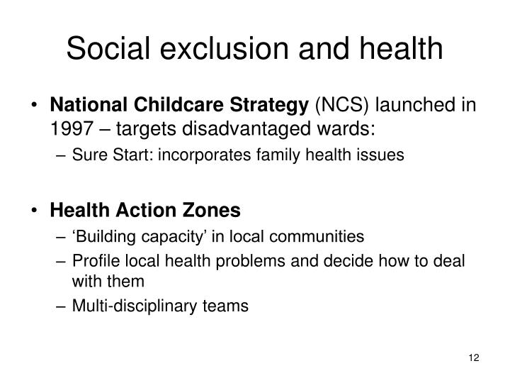Social exclusion and health