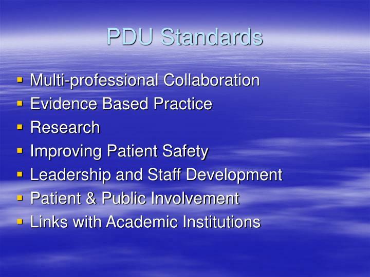 PDU Standards
