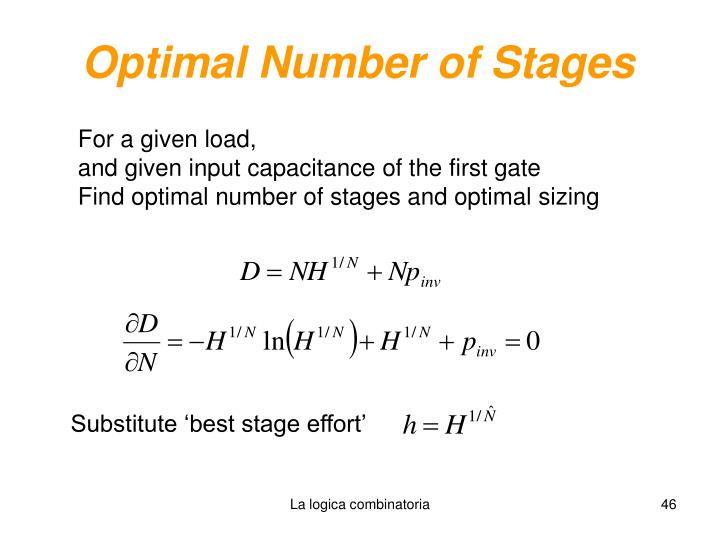Optimal Number of Stages