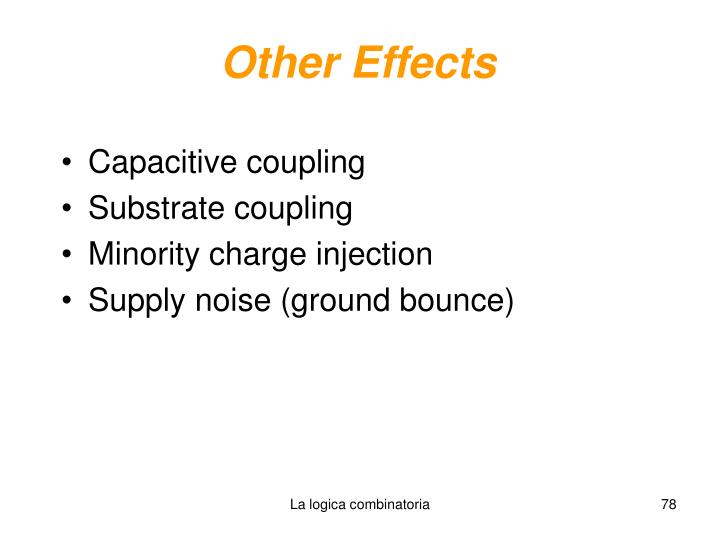 Other Effects