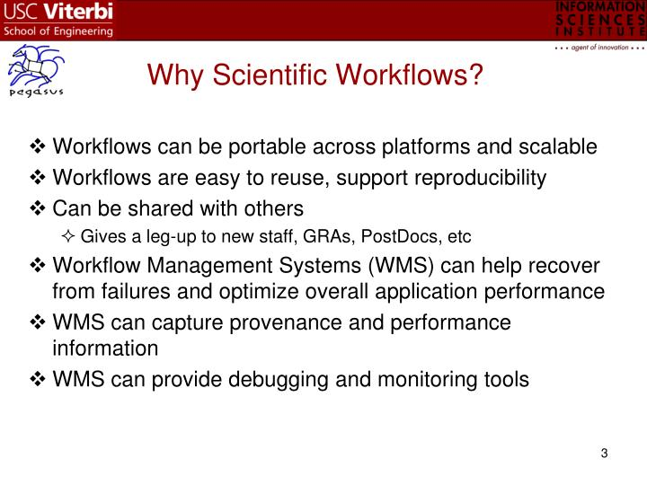 Why scientific workflows