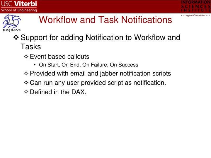 Workflow and Task Notifications