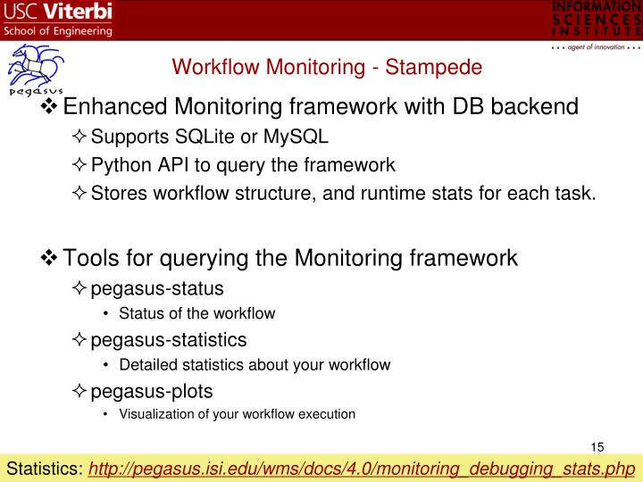 Workflow Monitoring - Stampede