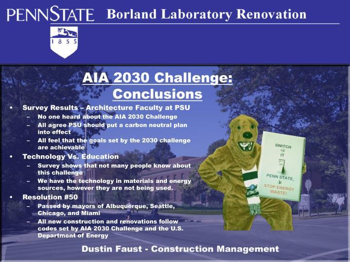 AIA 2030 Challenge: