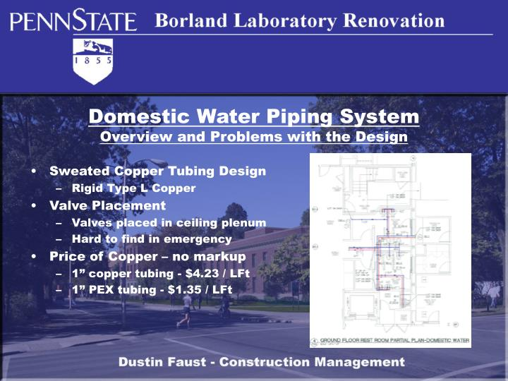 Domestic Water Piping System