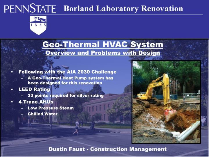 Geo-Thermal HVAC System