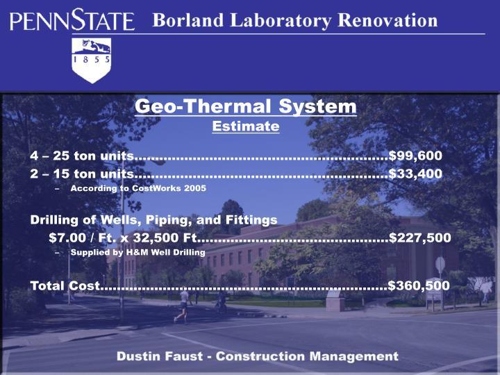 Geo-Thermal System