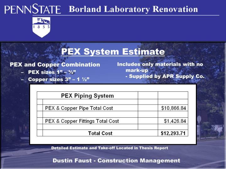 PEX System Estimate