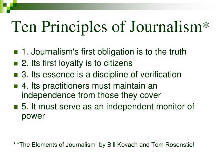 Ten Principles of Journalism