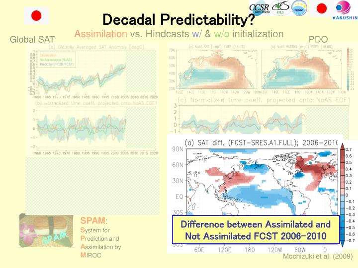 Difference between Assimilated and Not Assimilated FCST 2006-2010