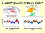 decadal predictability for natural modes