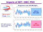 impacts of xbt dbc pdo