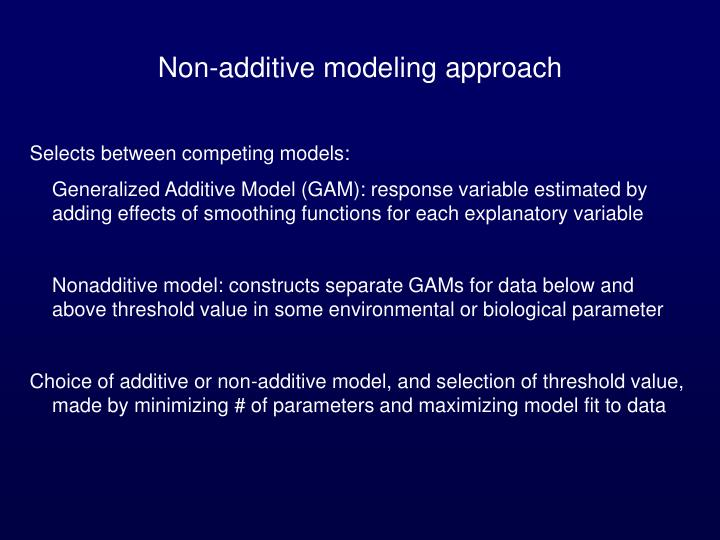 Non-additive modeling approach