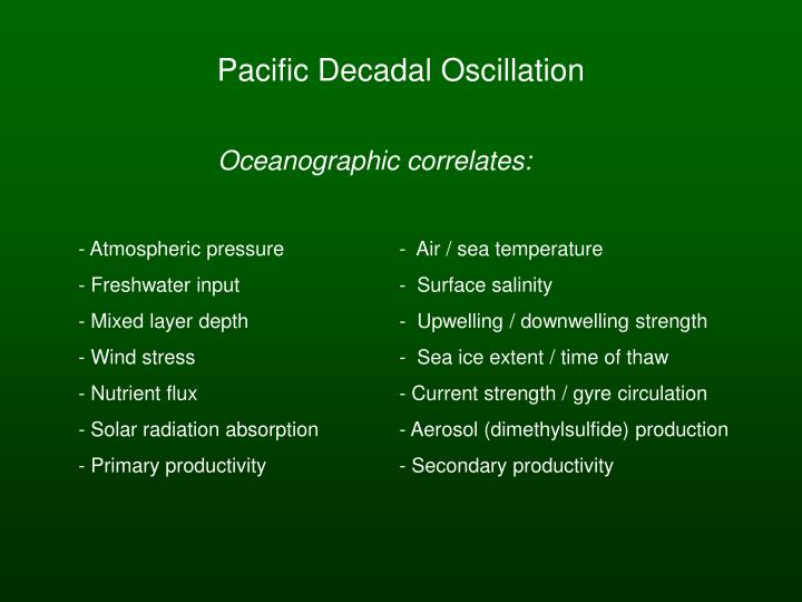 Pacific decadal oscillation1