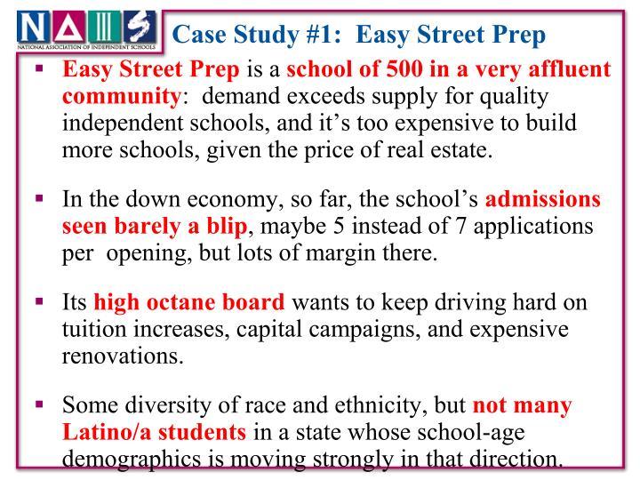 Case Study #1:  Easy Street Prep