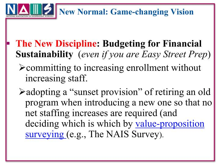 New Normal: Game-changing Vision