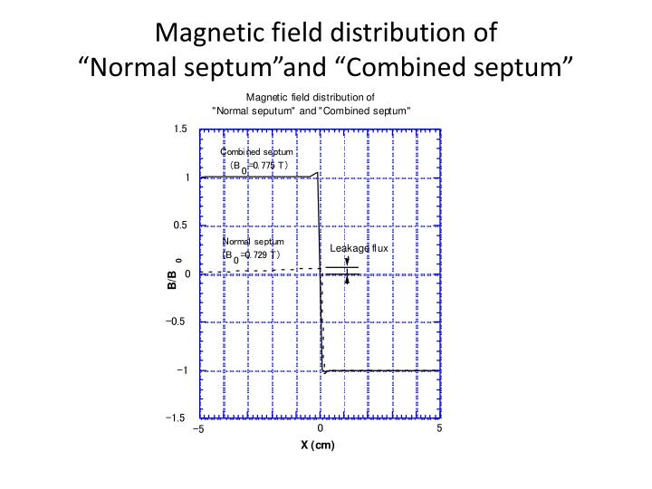 Magnetic field distribution of