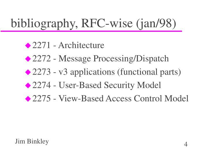 bibliography, RFC-wise (jan/98)