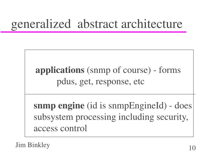 generalized  abstract architecture