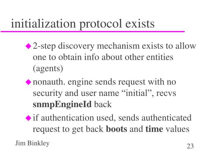 initialization protocol exists