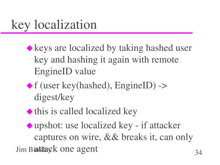 key localization