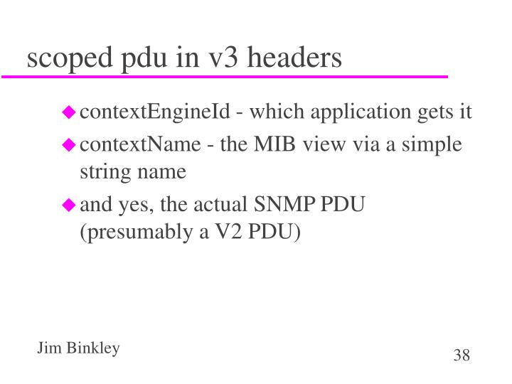 scoped pdu in v3 headers