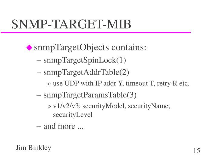 SNMP-TARGET-MIB