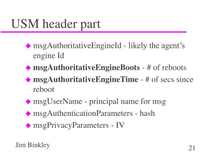 USM header part