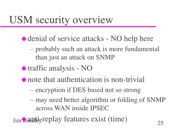USM security overview