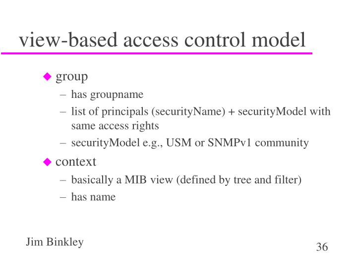 view-based access control model