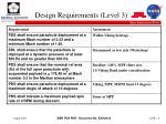 design requirements level 3