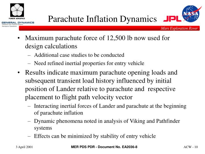 Parachute Inflation Dynamics