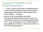 aussagen des flughafens aus dem planfeststellungsantrag