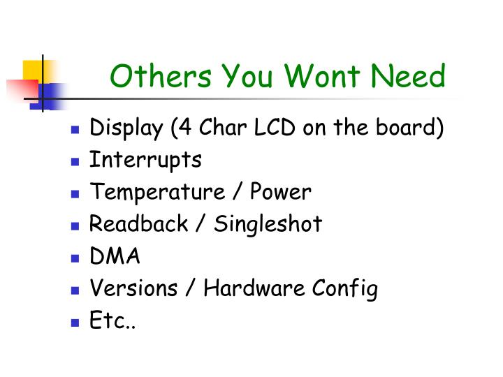Others You Wont Need