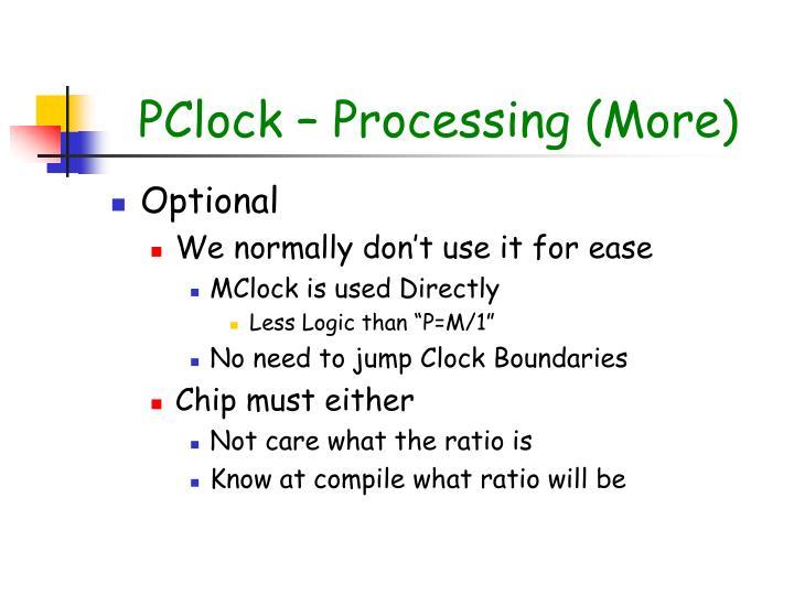 PClock – Processing (More)
