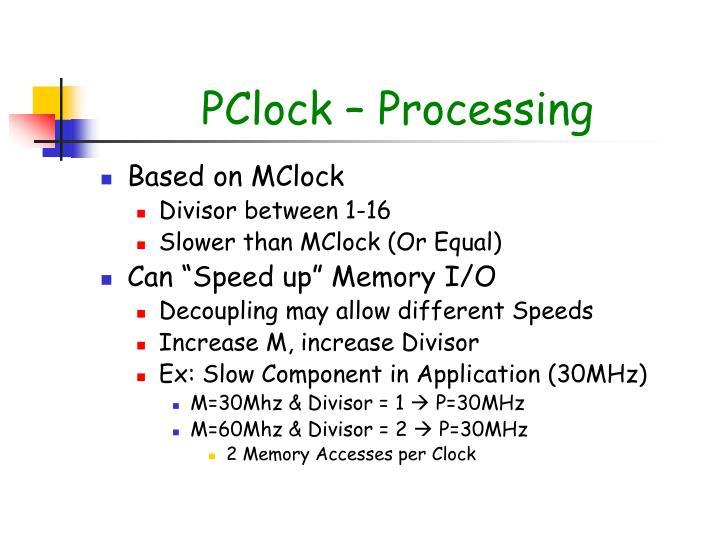PClock – Processing