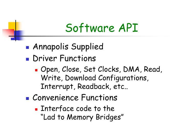 Software API