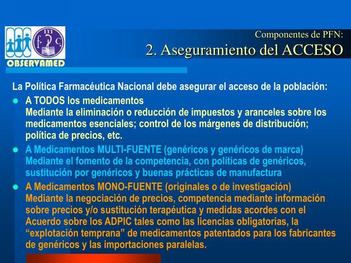 Componentes de PFN: