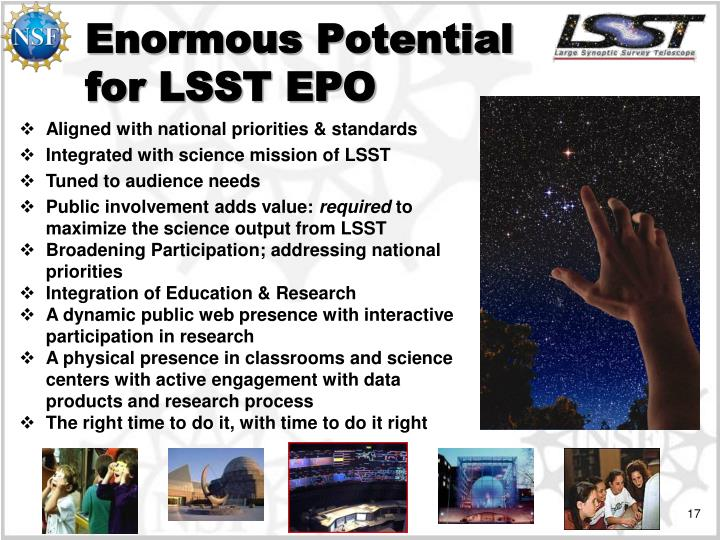 Enormous Potential for LSST EPO