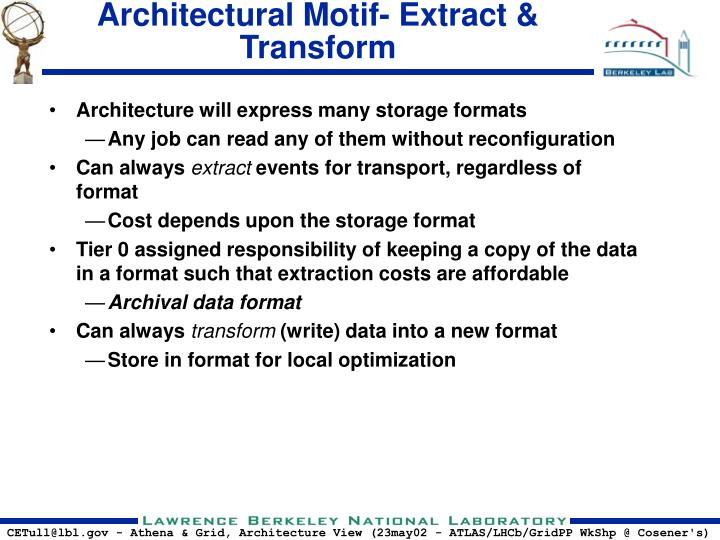 Architectural Motif- Extract & Transform