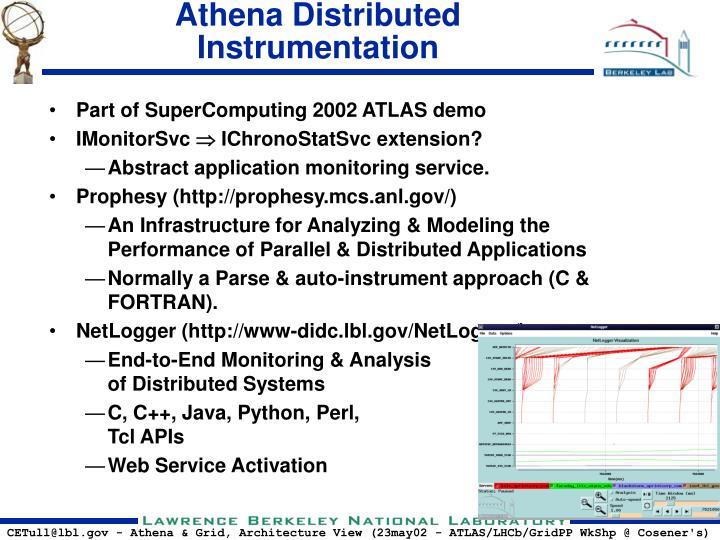 Athena Distributed Instrumentation
